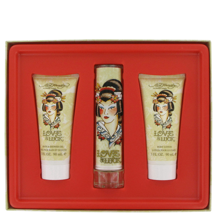 Ed Hardy Love Luck Gift Set For Women: Ed Hardy Love & Luck Gift Set For Women