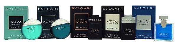 Bvlgari Men Miniature Collection Gift Set 4 x 5ml EDT 5ml EDP