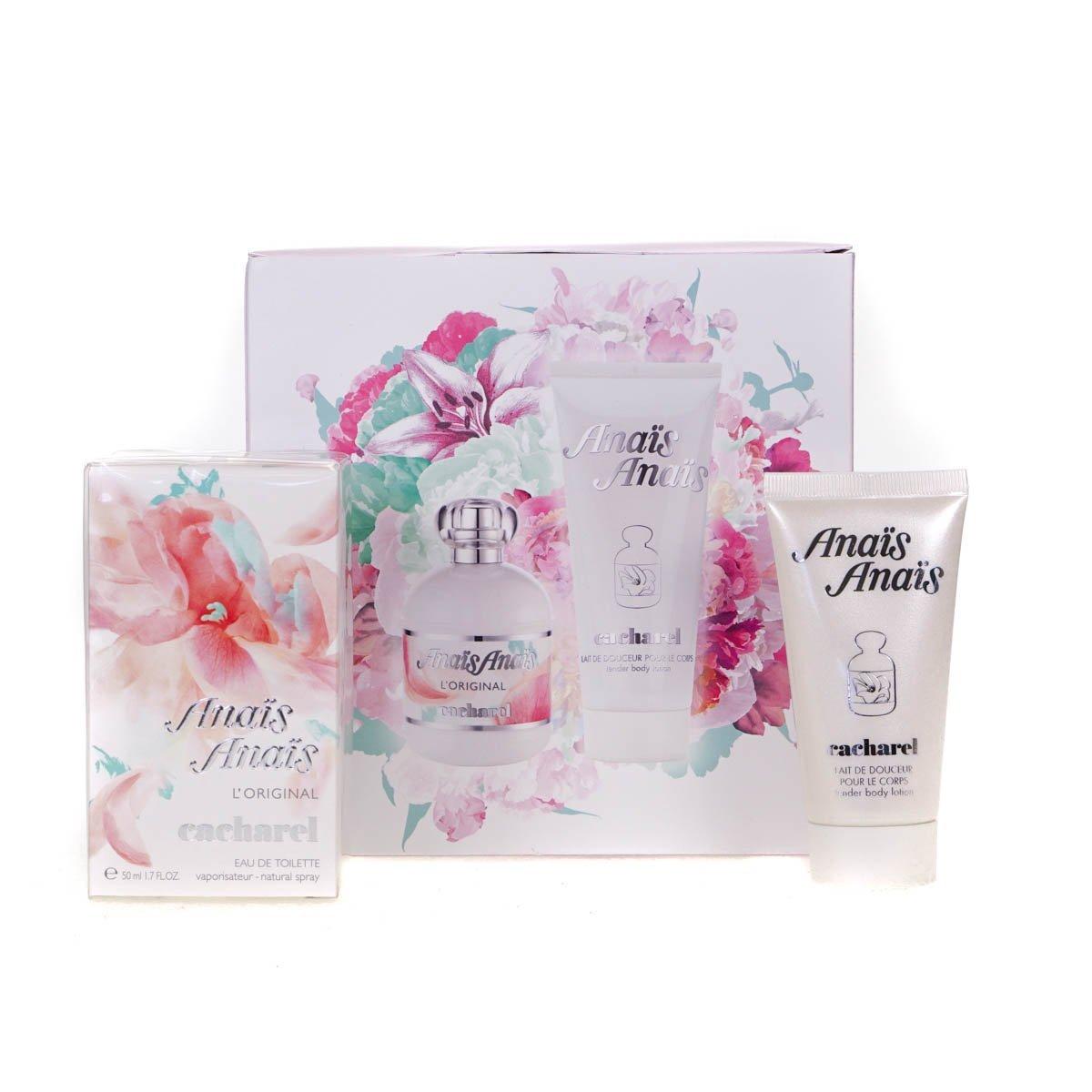 new product aef09 81fc4 Cacharel Anaïs Anaïs L'Original Gift Set 100ml EDT + 2 x 50ml Body Lotion