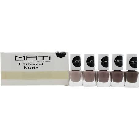 MATi Professional Nails Gift Set Farbspiel Nude 5 x 5ml Nail Polish ...