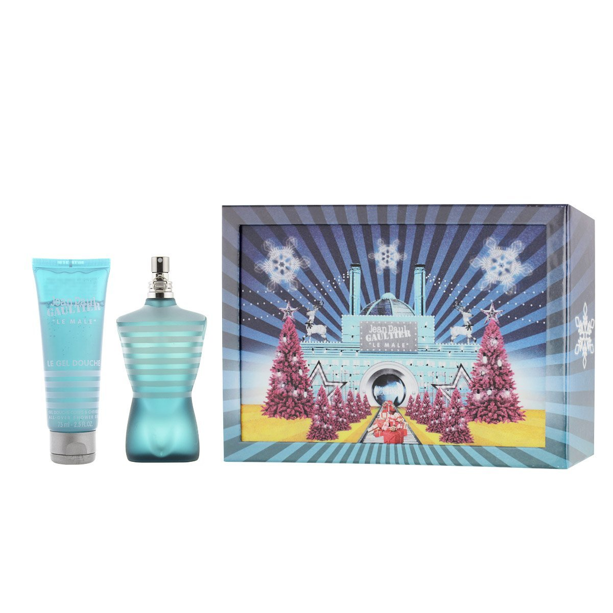 jean paul gaultier le male gift set 75ml edt 75ml all over shower gel christmas edition. Black Bedroom Furniture Sets. Home Design Ideas