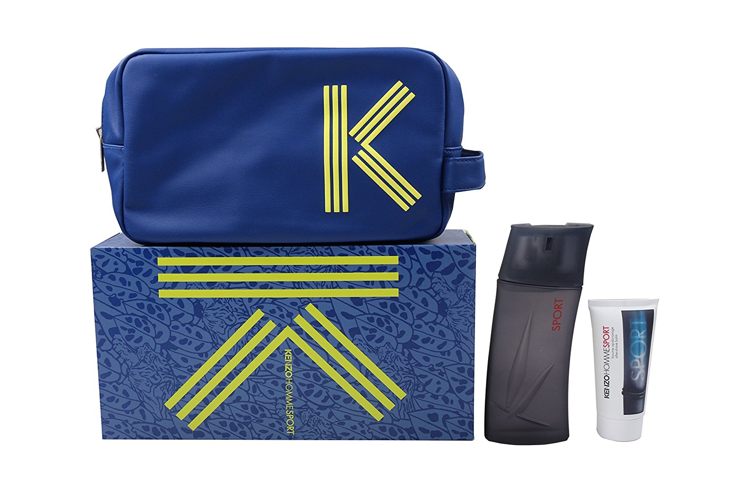 9a813a43 Kenzo Homme Sport Gift Set 100ml EDT + 50ml Aftershave Balm + Wash Bag –  SoLippy