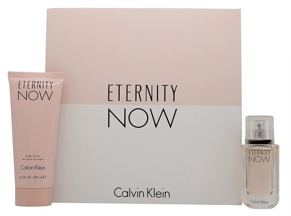 Calvin Klein Eternity Now For Her Gift Set 30ml EDP Spray 100ml Body Lotion