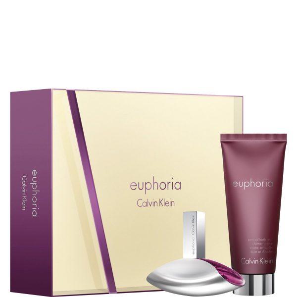 Calvin Klein Euphoria Gift Set 50ml EDP 200ml Sensual Skin Lotion