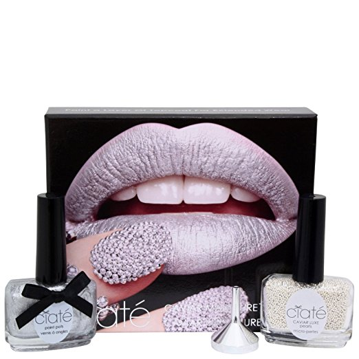 Ciaté Caviar Manicure Gift Set 13.5ml Nail Polish 20 g Black Caviar Pearls Funnel Tray