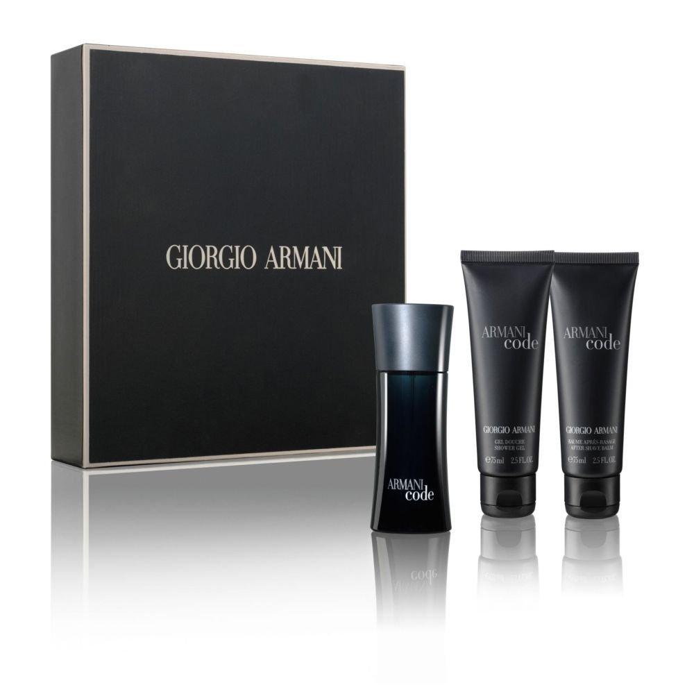 13a0bf97dea3 Giorgio Armani Code Gift Set 75ml EDT + 75ml Aftershave Balm + 75ml Shower  Gel – SoLippy