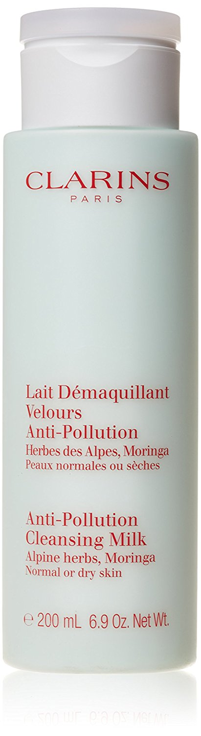 Clarins Anti Pollution Cleansing Milk with Alpine Herbs Dry Normal Skin 200ml