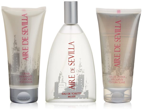 Instituto Español Aire de Sevilla Agua de Rosas Frescas Gift Set 150ml EDT Spray 150ml Shower Gel 150ml Body Cream