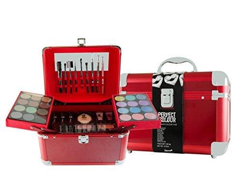 Jigsaw Perfect Colour Ultimate Make Up Kit Gift Set 30 Pieces Bronzers Blushers Eye Shadows Eyeliners Lip Balm Lip Gloss Mascara Eyelash Curler Applicators