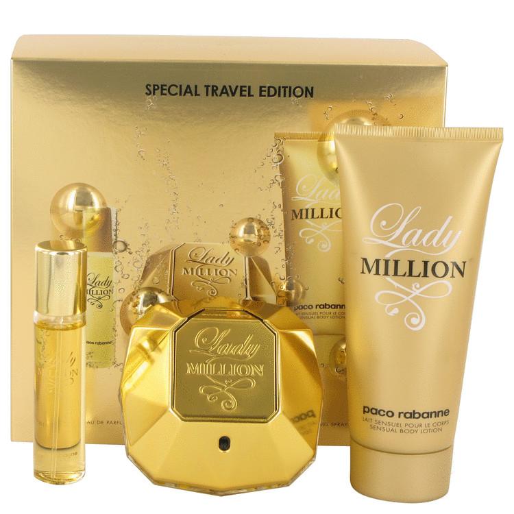 cb1aa6ce9 Paco Rabanne Lady Million Gift Set 80ml EDP + 10ml EDP + 100ml Body Lotion.  £68.08