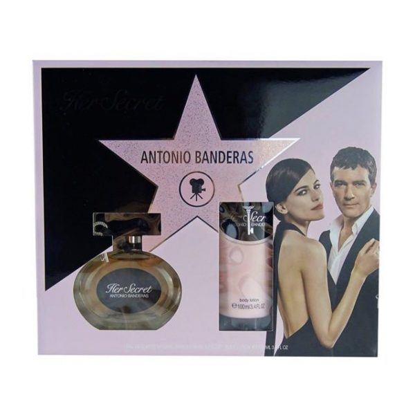 Antonio Banderas Her Secret Gift Set 50ml EDT 100ml Body Lotion