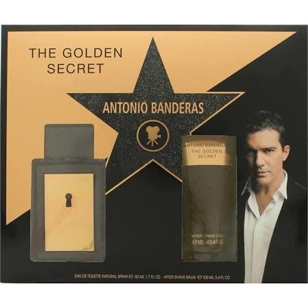 Antonio Banderas The Golden Secret Gift Set 50ml EDT 100ml AShave Balm