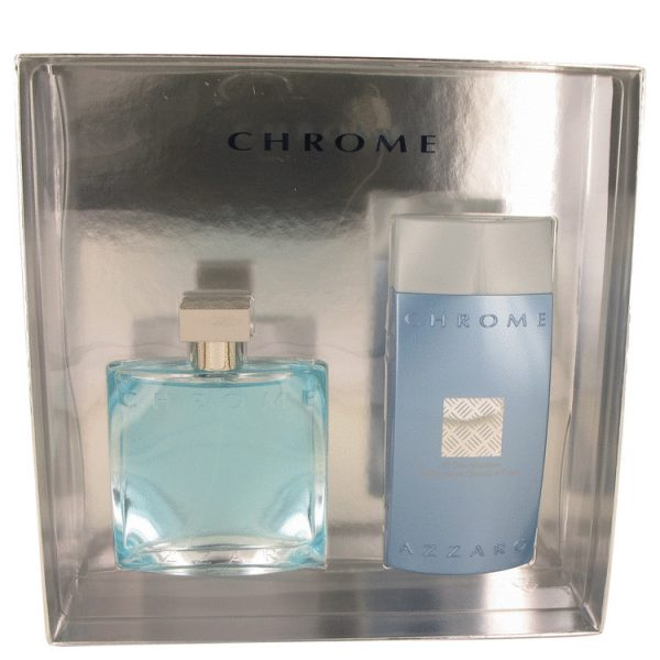 Azzaro Chrome Gift Set 100ml EDT 200ml All Over Shampoo