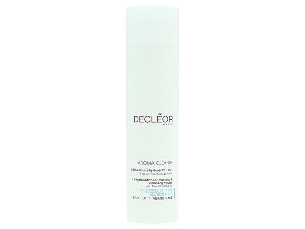 Decleor Aroma Cleanse 3 in 1 Hydra Radiance Smoothing Cleansing Mousse 100ml – All Skin Types