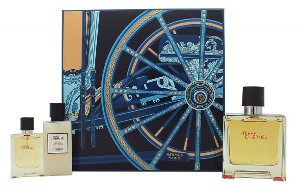 Hermès Terre d'Hermès Gift Set 75ml EDP 12.5ml EDP 40ml Aftershave Balm