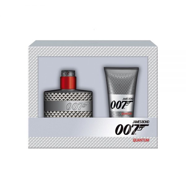 James Bond 007 Quantum Gift Set 30ml EDT Spray 50ml Shower Gel