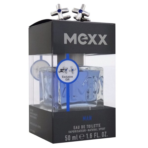 Mexx Man Gift Set 50ml EDT Spray Cufflinks