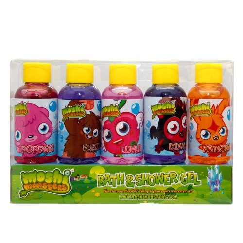 Moshi Monsters Gift Set 5x 50ml Bath Shower Gel