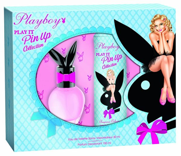 Playboy Play It Pin Up Gift Set 30ml EDT 250ml Shower Gel