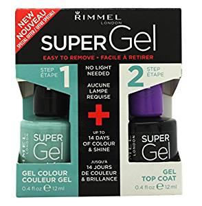 Rimmel Super Gel Gift Set 12ml Nail Polish in 012 Soul Session 12ml Top Coat