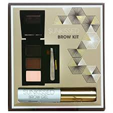 SUNkissed Brow Kit Gift Set 2 x Eye Brow Powder Highlighter Powder Brow Gel Tweezers