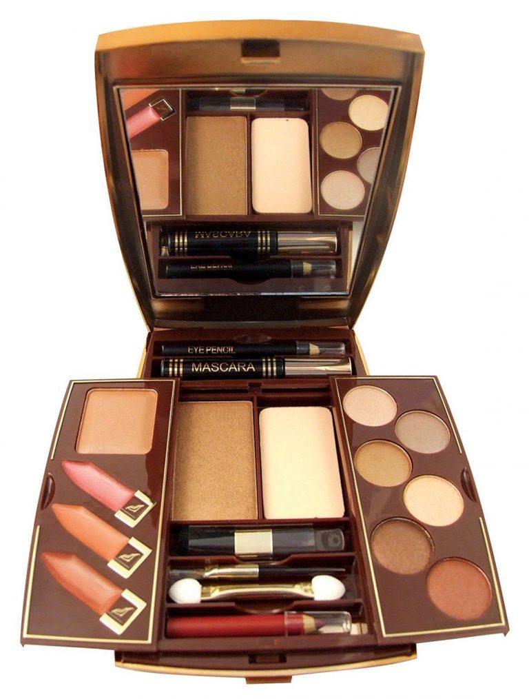 SUNkissed Cosmetics Radiance Compact – Bronzing Powder Eye Shadows 4 Lipstick glosses 1 mini blusher brush