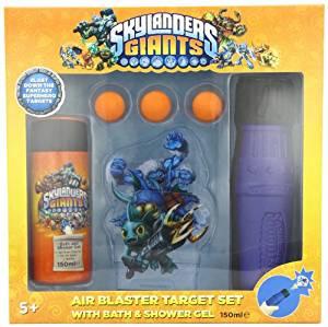 Skylander Giants Air Blast Target Gift Set 150ml Bath Shower Gel Toy