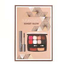 Sunkissed Beautiful Bronze Beauty Booster Gift Set 6 x 2g Eyeshadows 4g Bronzer 4g Highlighter Applicator