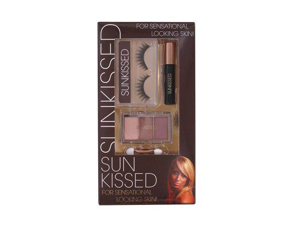 Sunkissed Lash Workshop 1 Gift Set – False Eyelashes Adhesive Eyeshadow Trio Black Mascara
