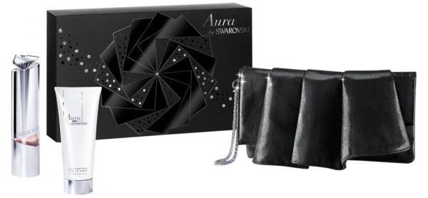 Swarovski Aura Gift Set 30ml Refillable EDT 5ml Refill EDT Pouch