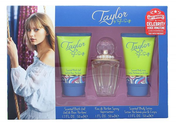 Taylor Swift Taylor Gift Set 30ml EDP 50ml Shower Gel 50ml Body Lotion Free Celebrity Ringtone