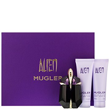 Thierry Mugler Alien Gift Set 30ml EDP Refillable 50ml Body Lotion 50ml Shower Gel