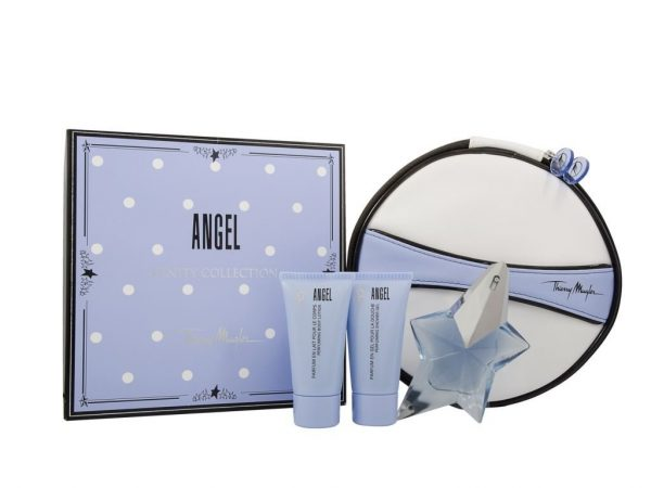 Thierry Mugler Angel Gift Set 25ml EDP 30ml Body Lotion 30ml Shower Gel Cosmetic Bag