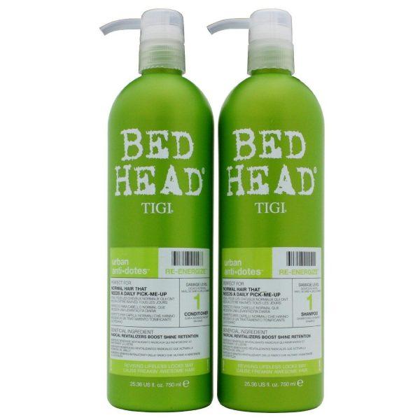 Tigi Duo Pack Bed Head Urban Antidotes Re Energize 750ml Shampoo 750ml Conditioner