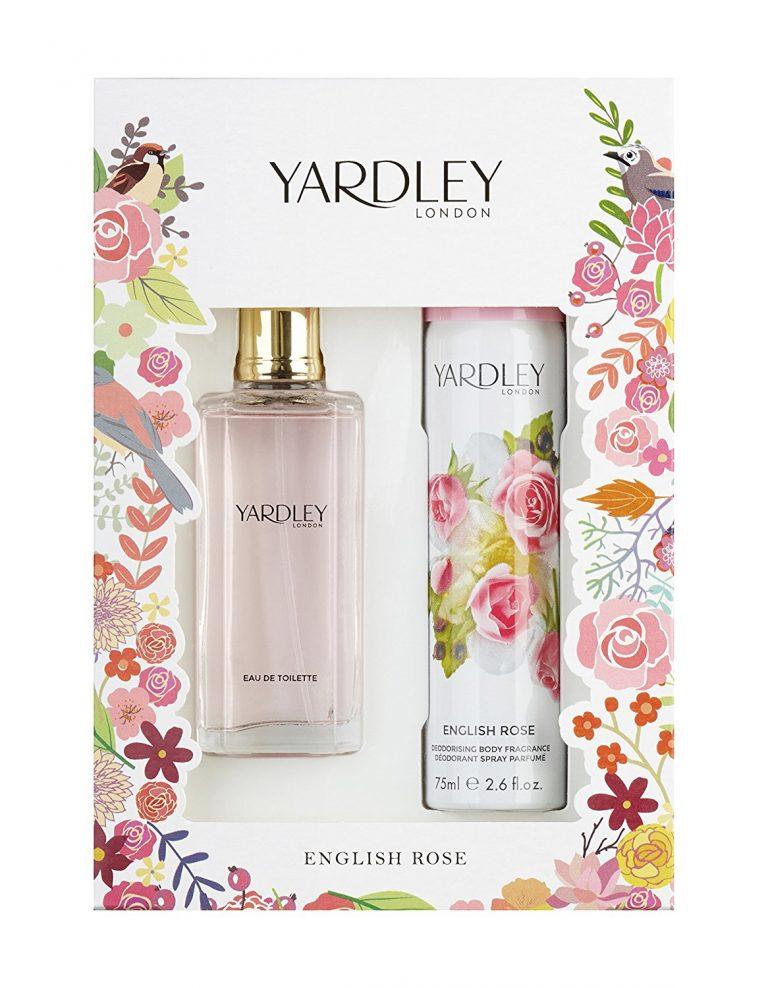 Yardley English Rose Gift Set 50ml EDT 75ml Body Spray