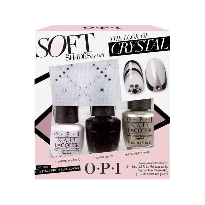 OPI Nail Polish The Look of Crystal Soft Shades Gift Set 15ml ...