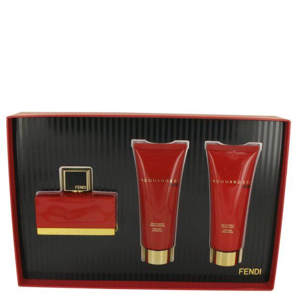 Fendi LAcquarossa Gift Set 75ml EDP 75ml Body Lotion 75ml Shower Gel