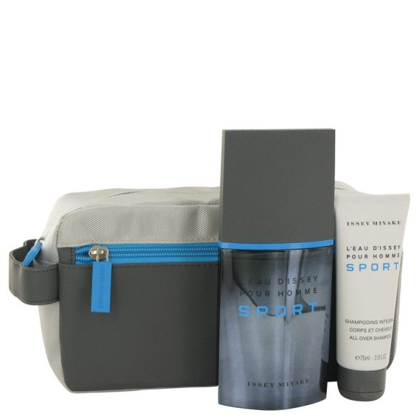 Issey Miyake LEau dIssey Pour Homme Sport Gift Set 100ml EDT 75ml Shower Gel Bag