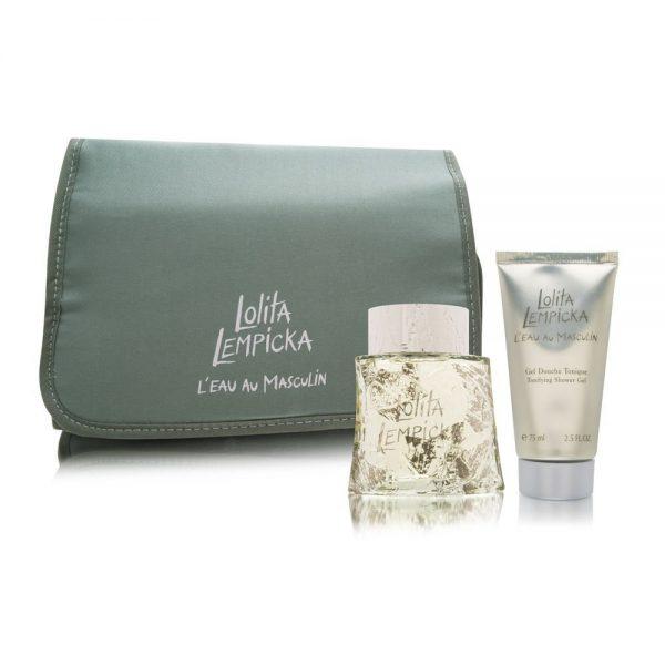 Lolita Lempicka L'Eau Au Masculin Gift Set 100ml EDT 75ml Shower Gel Case
