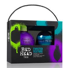 Tigi Bed Head Twisted Texture Gift Set 200ml Small Talk Thickifier 42g Hard to Get Texturizing Paste