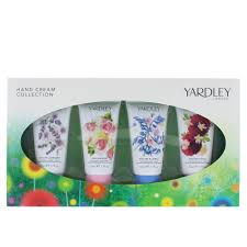 Yardley Hand Cream Gift Set 4 x 50ml English Bluebell English Lavender English Rose English Dahlia