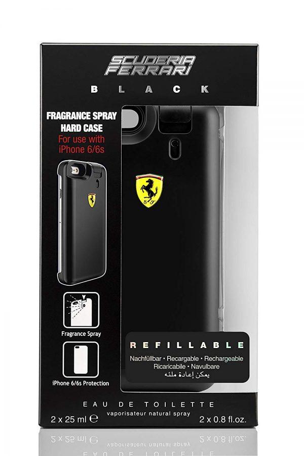 Ferrari Black Gift Set 2 x 25ml EDT Fragrance Spray Hard Case for Iphone6
