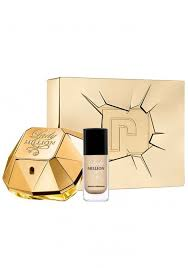 Paco Rabanne Lady Million Gift Set 50ml EDP 9ml Lady Million Gold Nail Polish