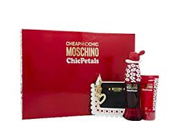 Moschino Cheap Chic Chic Petals Gift Set 30ml EDT 50ml Body Lotion Coin Purse