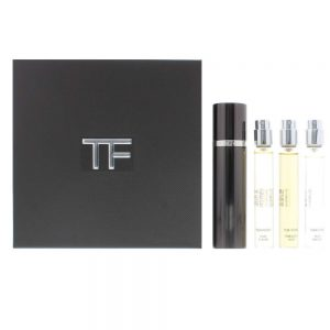 6a4653f1 Tom Ford Private Blend Oud Wood Collection Travel Gift Set 10ml Oud Wood  EDP + 10ml Oud Fleur EDP + 10ml Tobacco Oud EDP + Refillable Atomizer
