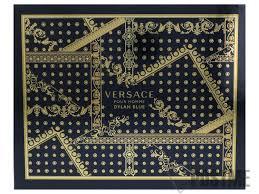 Versace Pour Homme Dylan Blue Gift Set 50ml EDT 50ml Aftershave Balm 50ml Perfumed Bath Shower Gel