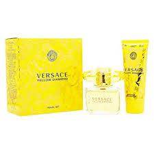 Versace Yellow Diamond Gift Set 90ml EDT Spray 100ml Body Lotion