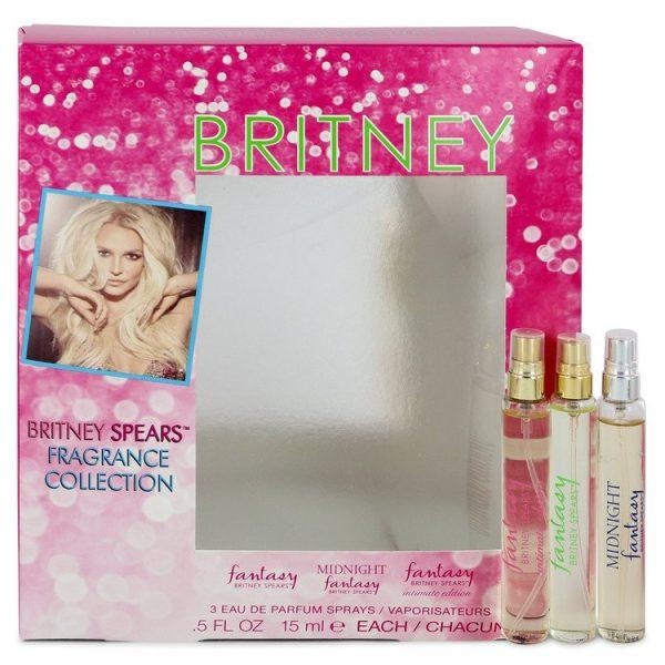 Britney Spears Fantasy Gift Set 15ml EDP 50ml Shower Gel 30ml Body Souflee