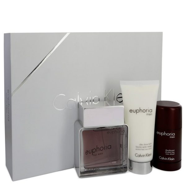 Calvin Klein Euphoria Gift Set 100ml EDT 100ml Aftershave Balm 75g Deo Stick