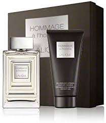 Lalique Hommage a L'Homme Gift Set 100ml EDT 150ml Shower Gel